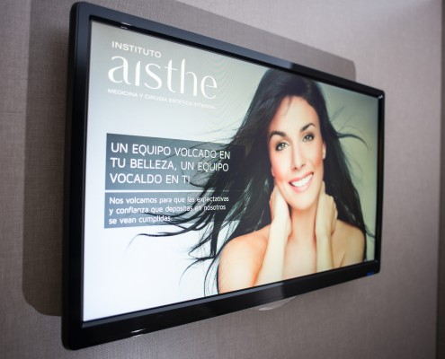Televisión de sala de espera Aisthe Alicante